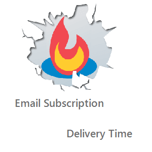 how to change Email subscription delivery time blogger