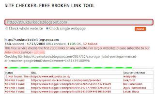 Cara mengecek page not found 404