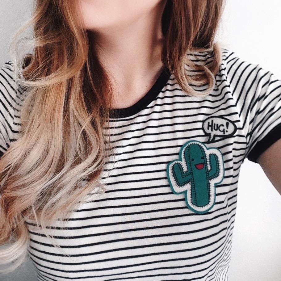H&M Cactus T-Shirt - Pale Aesthetic