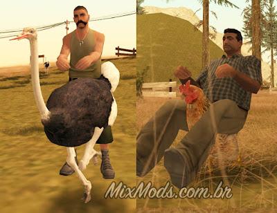 gta sa mod cleo montar em animais ride animals