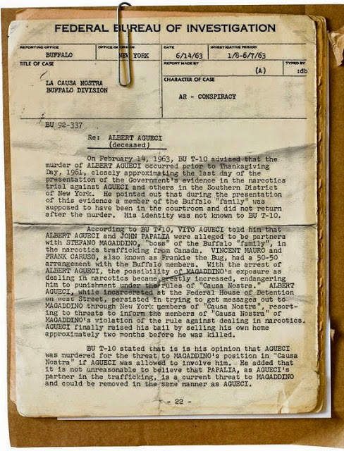 Autopsy report on Albert Agueci
