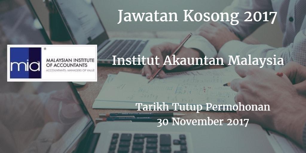 Jawatan Kosong MIA 30 November 2017