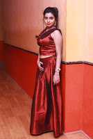 Tamil Actress Anisha Xavier Pos in Red Dress at Pichuva Kaththi Tamil Movie Audio Launch  0018.JPG