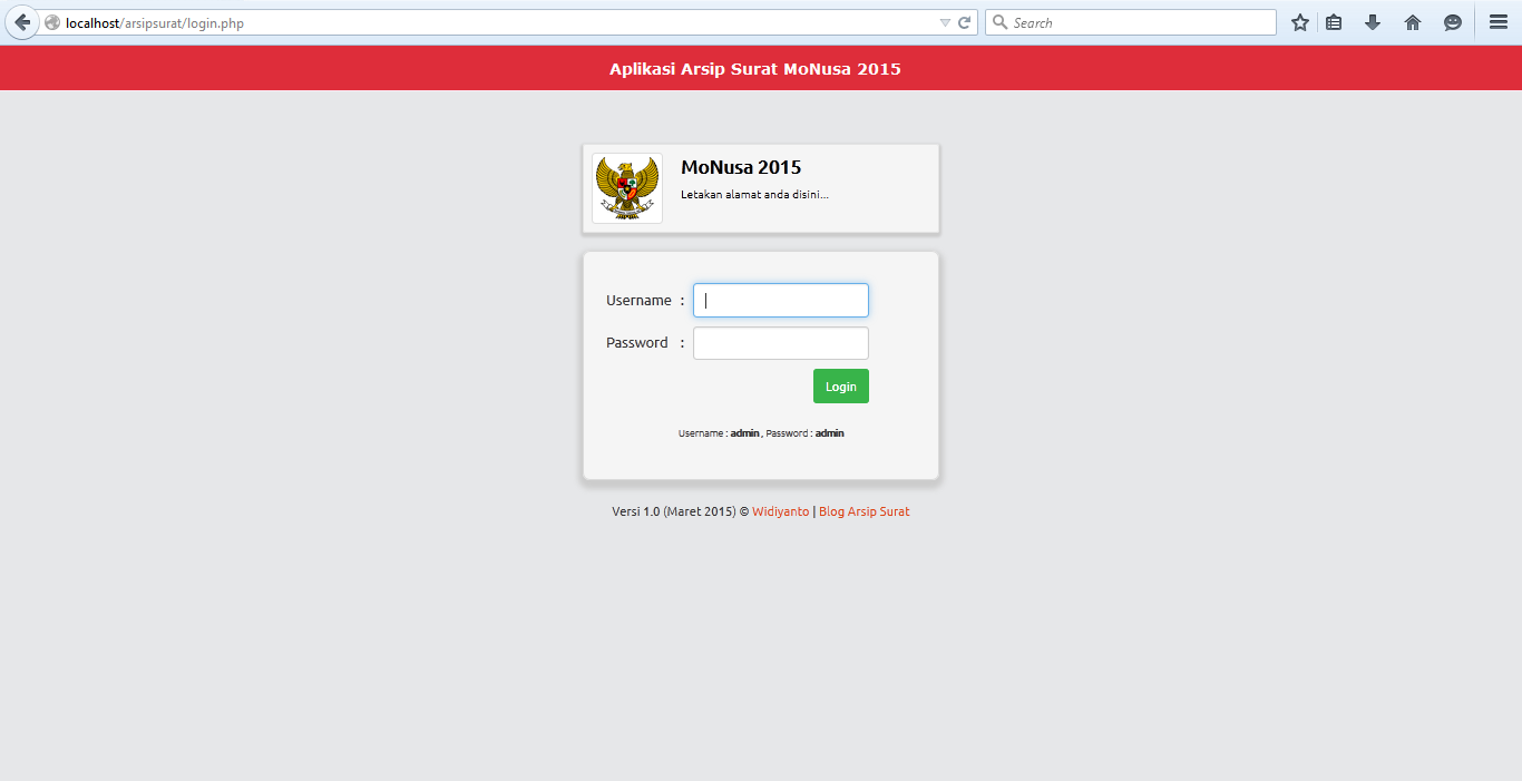 Download free aplikasi arsip surat php template gratis for Php login templates free download