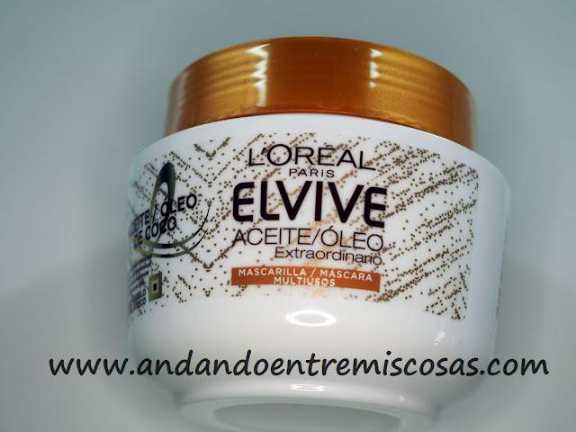 Mascarilla de aceite de coco de Elvive