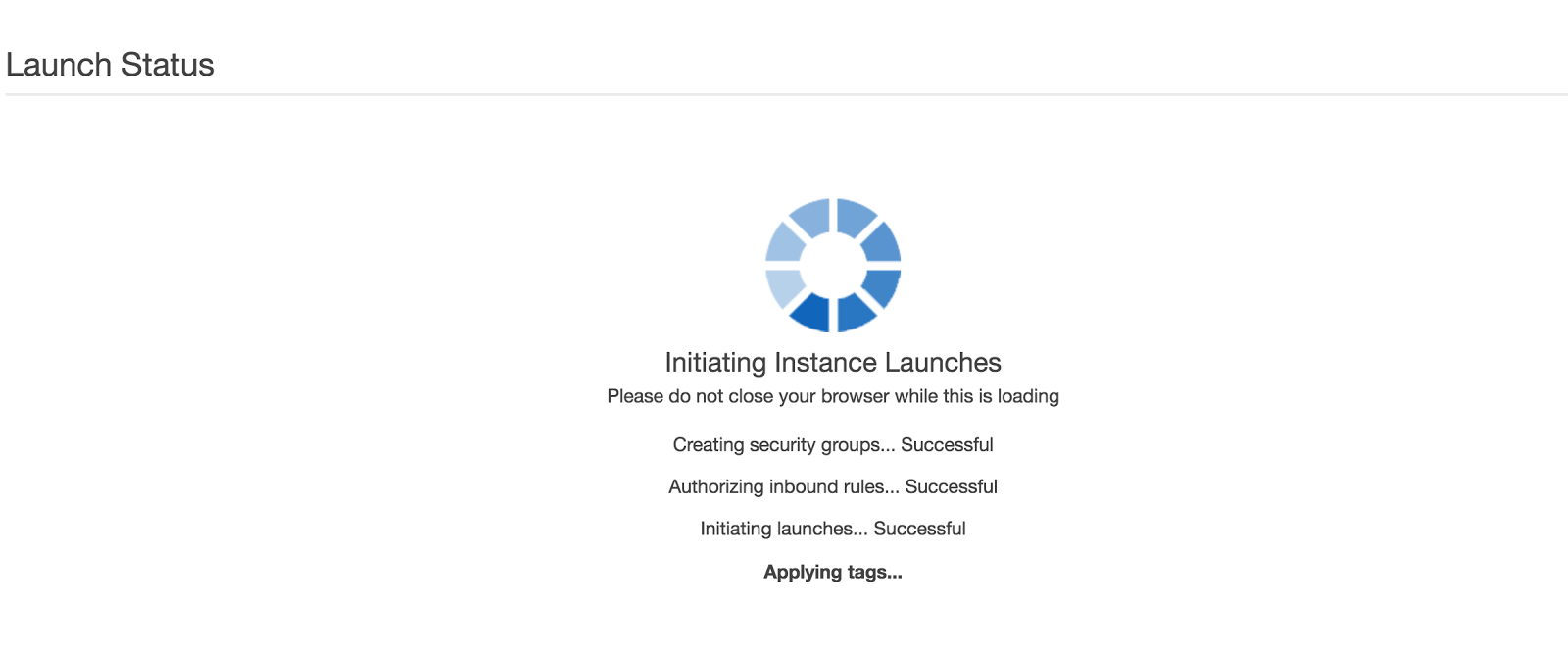 Installing instance