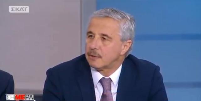 Ο Γ. Μανιάτης στην τηλεόραση του ΣΚΑΪ