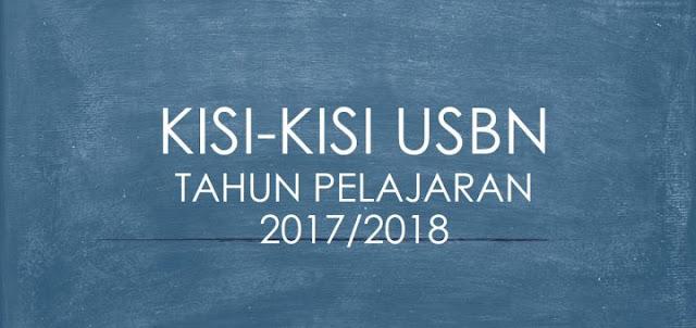 Download Kisi-kisi USBN Tingkat SD-SMA/K Tahun Pelajaran 2017/2018