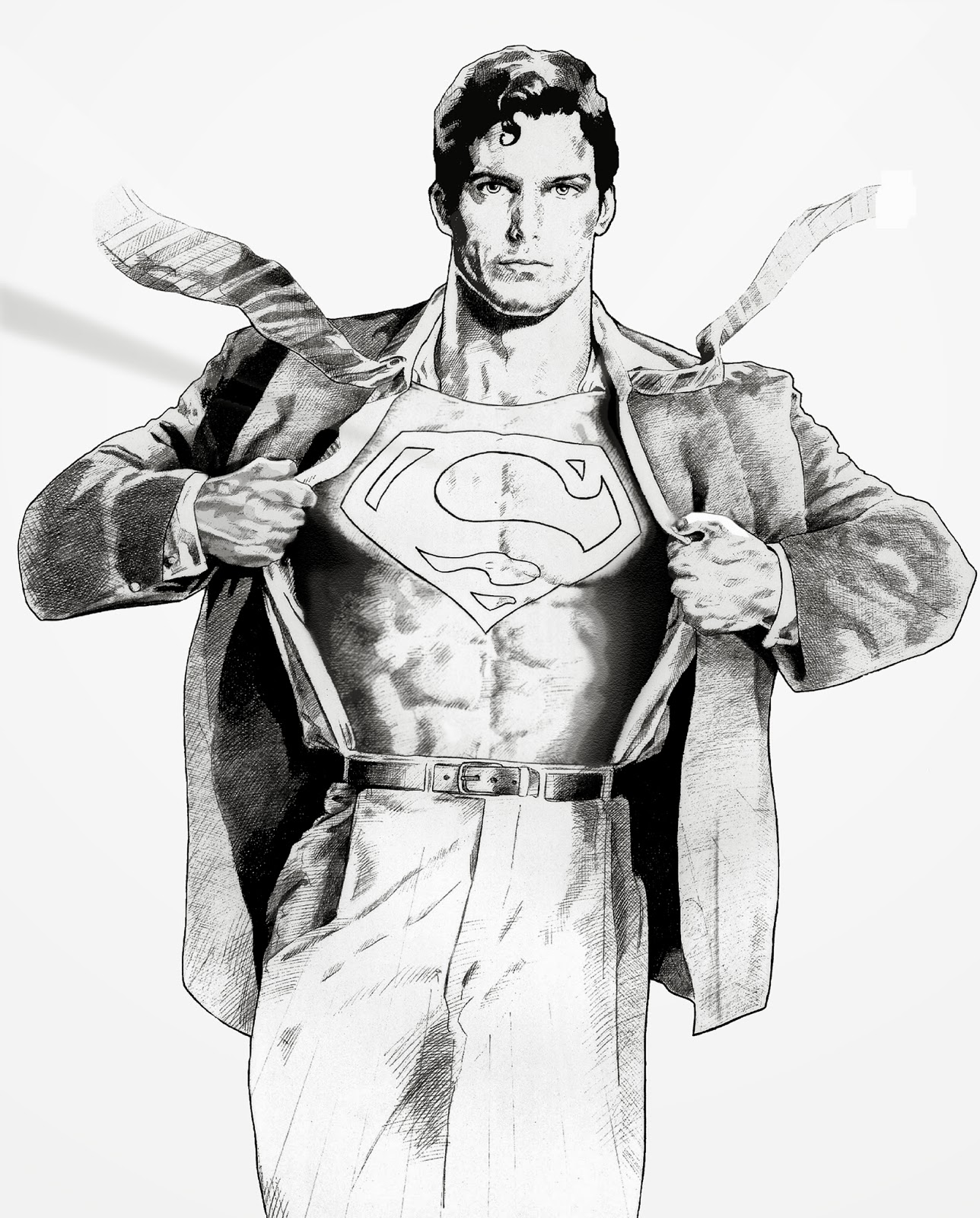 It is a photo of Bewitching Clark Kent Drawing