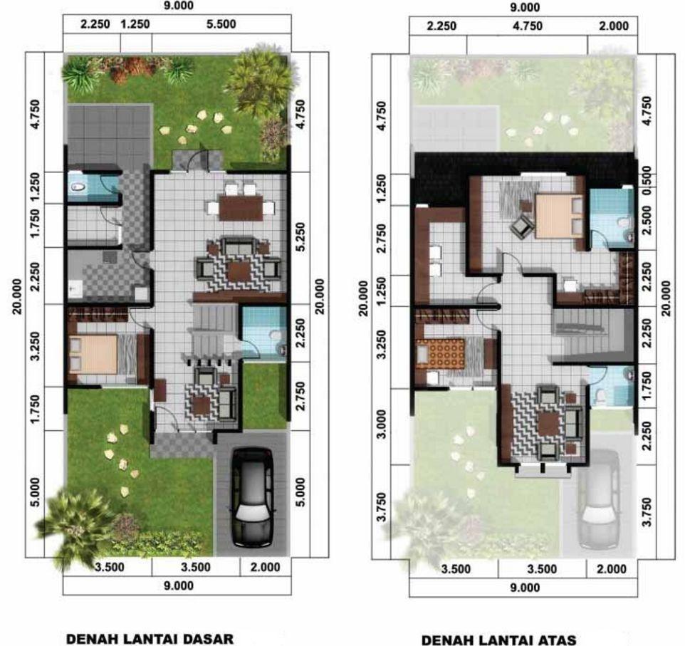Desain Denah Rumah Idaman 2 Lantai Populer Desain Rumah Minimalis