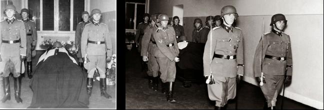 Heydrich's coffin in Bulovka hospital