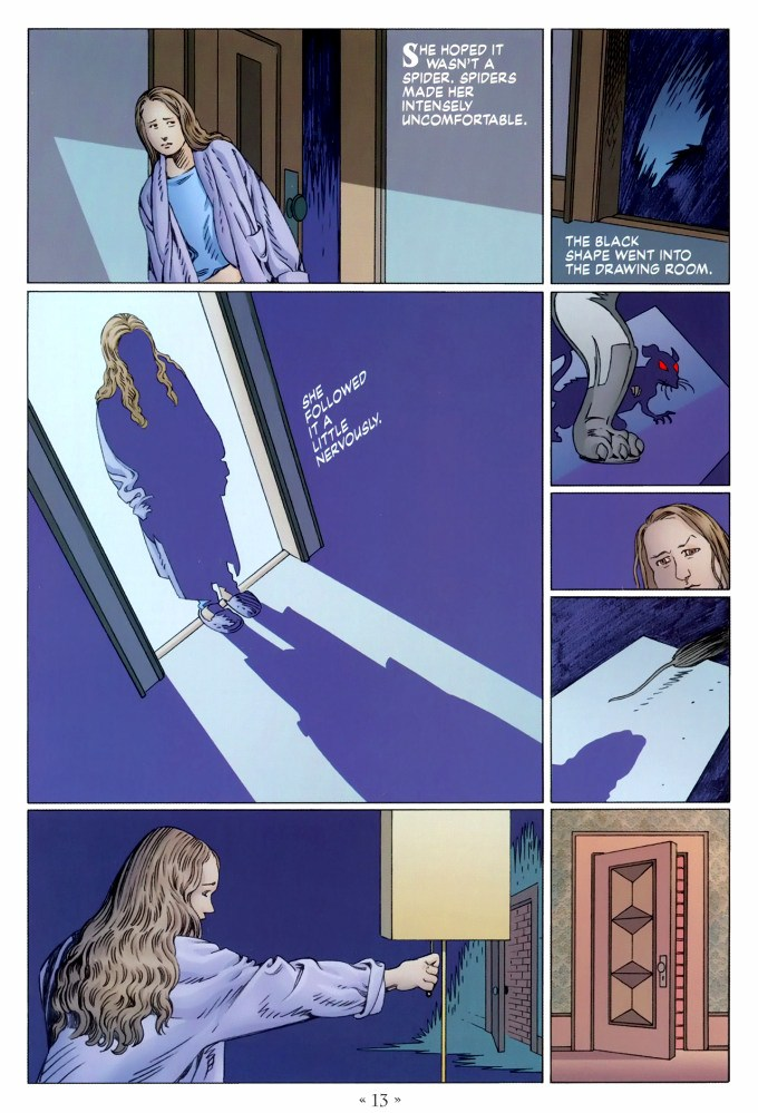 Read page 13, from Nail Gaiman and P. Craig Russell's Coraline graphic novel