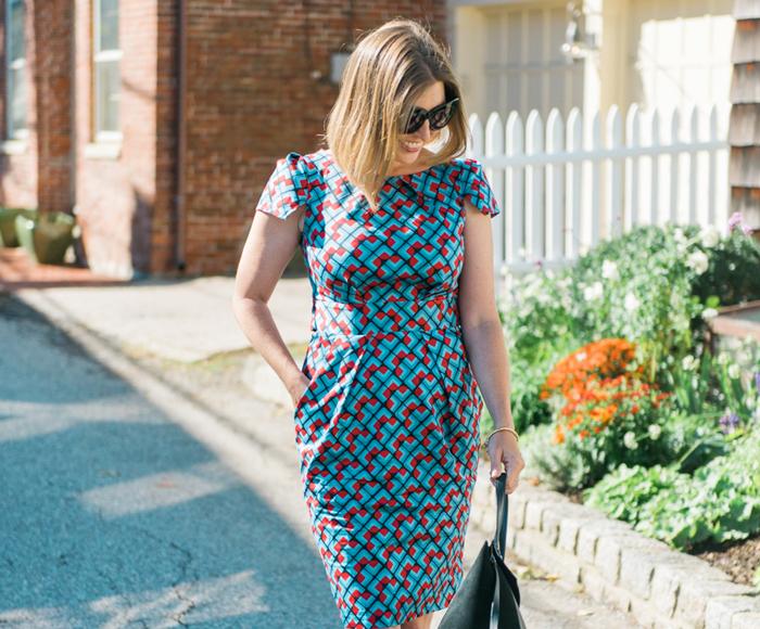 Closet London cap sleeve printed dress