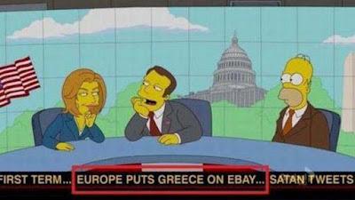 Griechische Schuldenkrise bei den Simpsons parodiert lustig