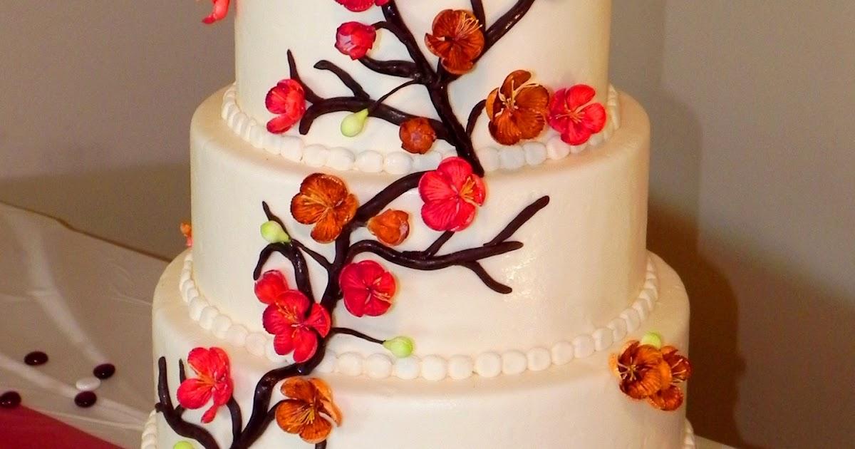 Salt Cake City Red Amp Orange Cherry Blossom Cake