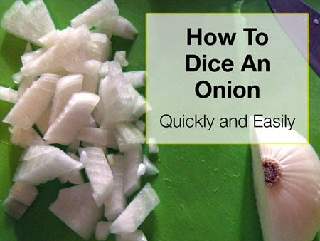 How To Quickly And Easily Dice An Onion #lifehack