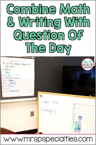 Combine math and writing practice with question of the day tasks. This quick and simple activity reaps a lot of benefits and it takes no prep! This idea is perfect for busy special education classrooms.