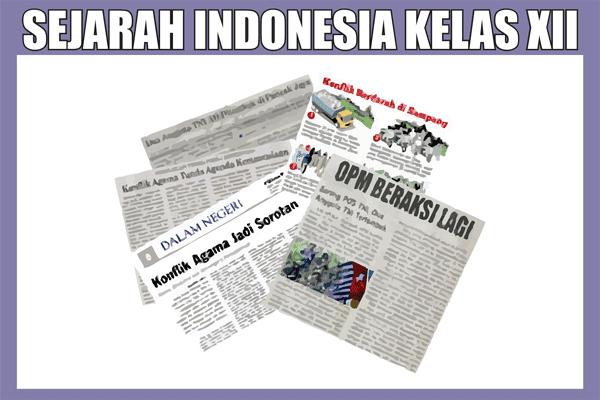 Materi Sejarah Indonesia Kelas 12 SMA/K Semester 1/2 Lengkap
