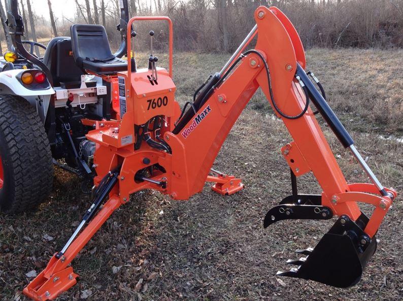 WoodMaxx WM-7600 7' PTO Backhoe Attachment: WoodMaxx WM-7600