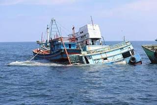 Kapal Vietnam Ditenggelamkan