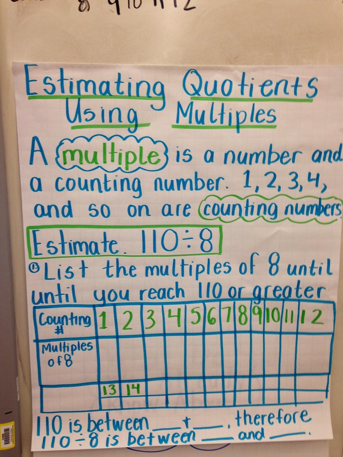 Estimate Quotients Worksheets 4th Grade Mental Math