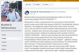 Kabar Viral Tersebar, Terkait Fadli Zon Disinyalir Selingkuh Dengan Pelakor.