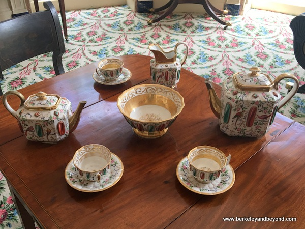tea set at Nathaniel Russell House Museum in Charleston, South Carolina