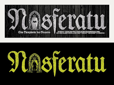 Crypt Edition Nosferatu Glow in the Dark Screen Print by Chris Garofalo x Grey Matter Art