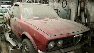Jual bahan Alfa Romeo Alfetta 1978, mesin asli 1800cc 4 barrel Del orto