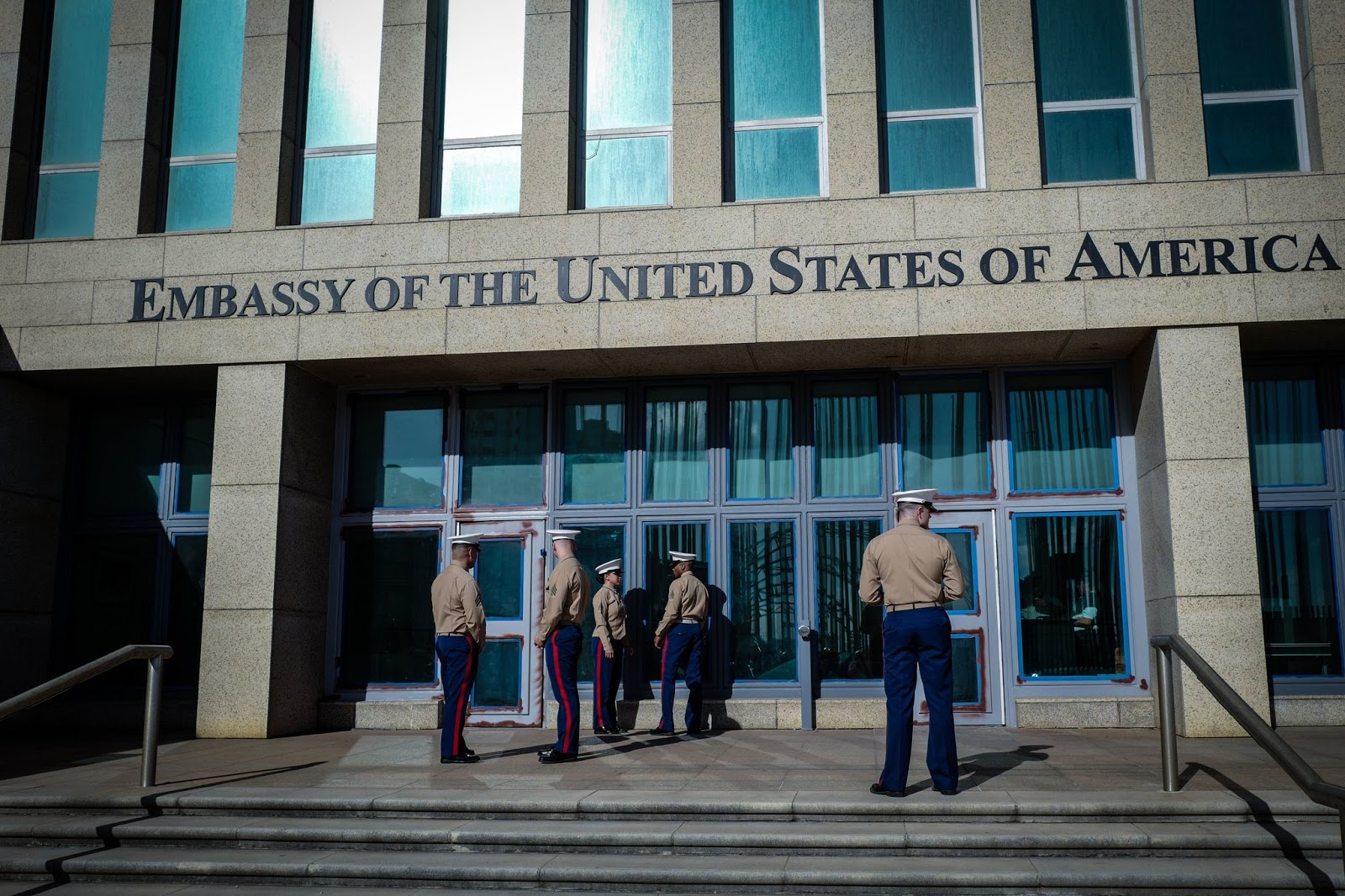 photo u s marines outside the embassy in havana in february diplomats working here reported strange noises and mysterious symptoms that doctors and