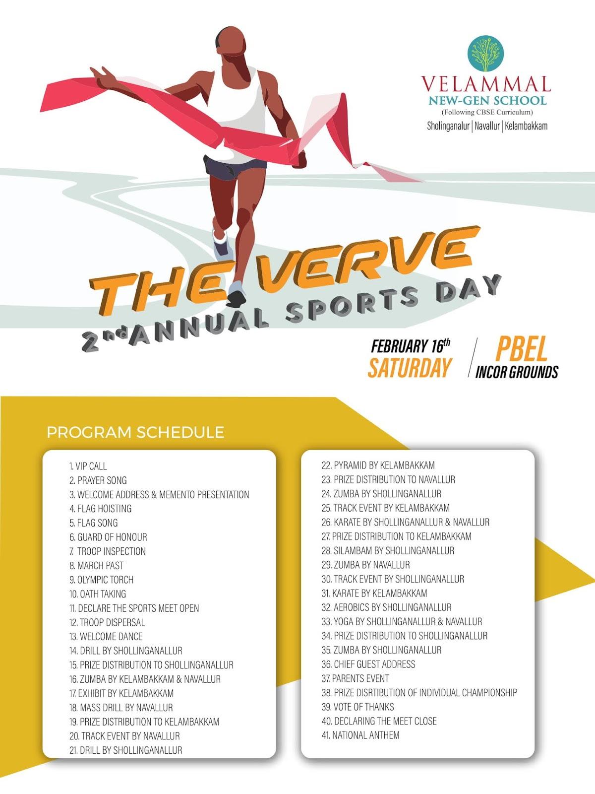 the verve  sports day invitation