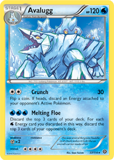 Avalugg Steam Siege Pokemon Card