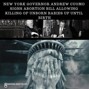 "NY Gov. Cuomo signs ""most aggressive"" abortion law in the country"