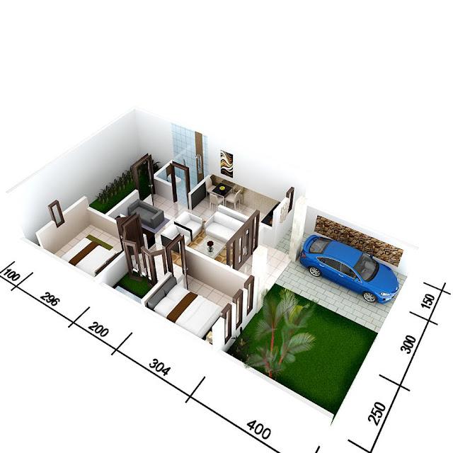 Rumah Type 54 : Pengertian, Denah, Harga img by pinterest