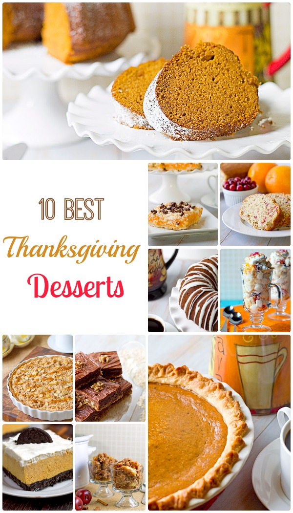 10 best thanksgiving desserts
