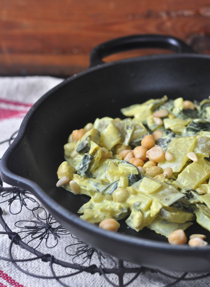 Sautéed Swiss Chard with Chickpeas and Garlic, gluten free and oh-so good!
