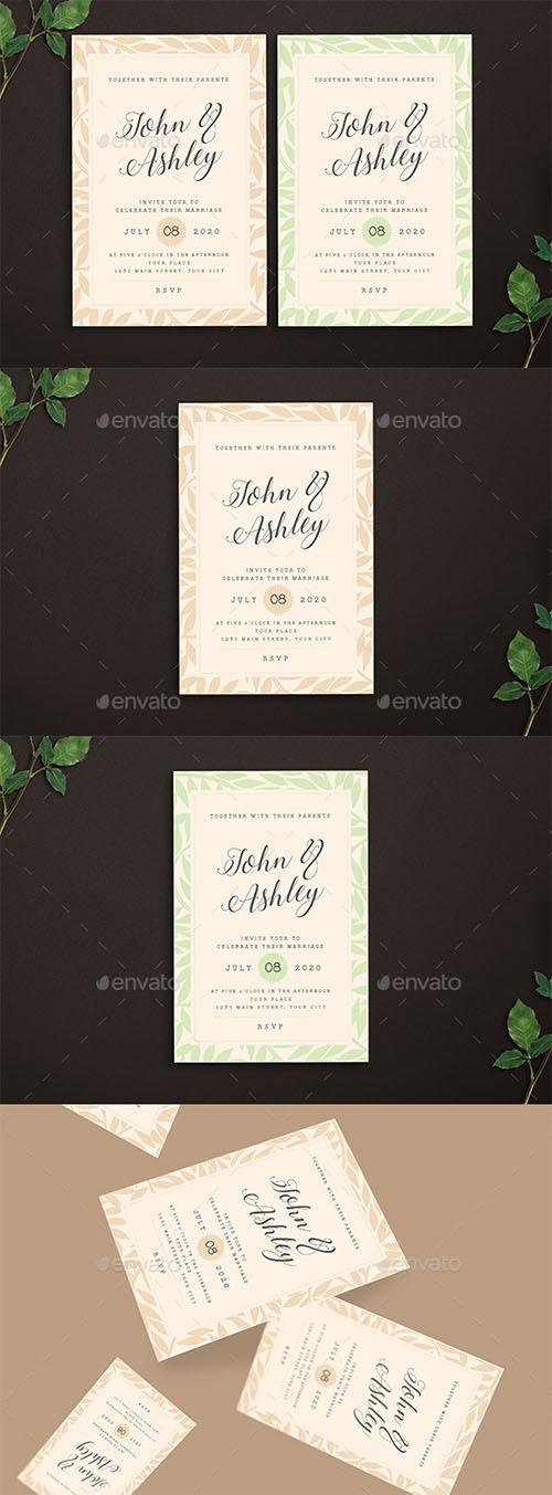 ملف psd مفتوح لدعوة زفاف مع ملف ai
