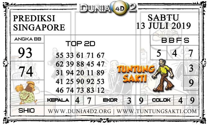 """Prediksi Togel """"SINGAPORE"""" DUNIA4D2 13 JULI 2019"""