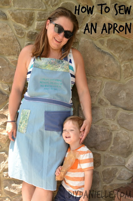 Awesome handmade apron for painting.