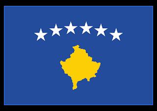 Kosovo Flag Logo Vector