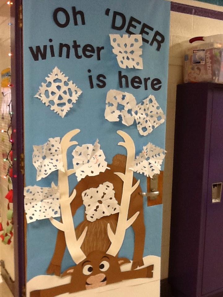 Mrs. Deemer's Kindergarten: Winter door decoration