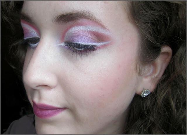 Vibrant Violet 'Mardi Gras' Inspired Makeup