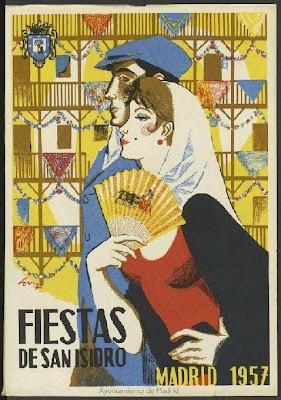 Cartel de las Fiestas de San Isidro, 15 de mayo de 1957