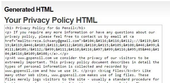 Tata Cara Membuat Halaman Privacy & Police di Blogger