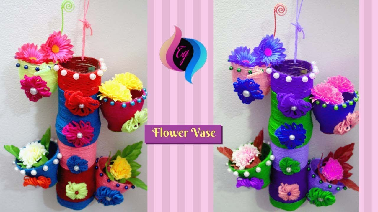 Handmade flower vase from plastic bottle crazzy craft reviewsmspy