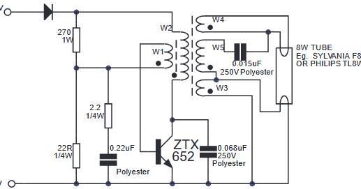 Electronics TL-Lamp 12 volt DC ~ Electronics Circuit