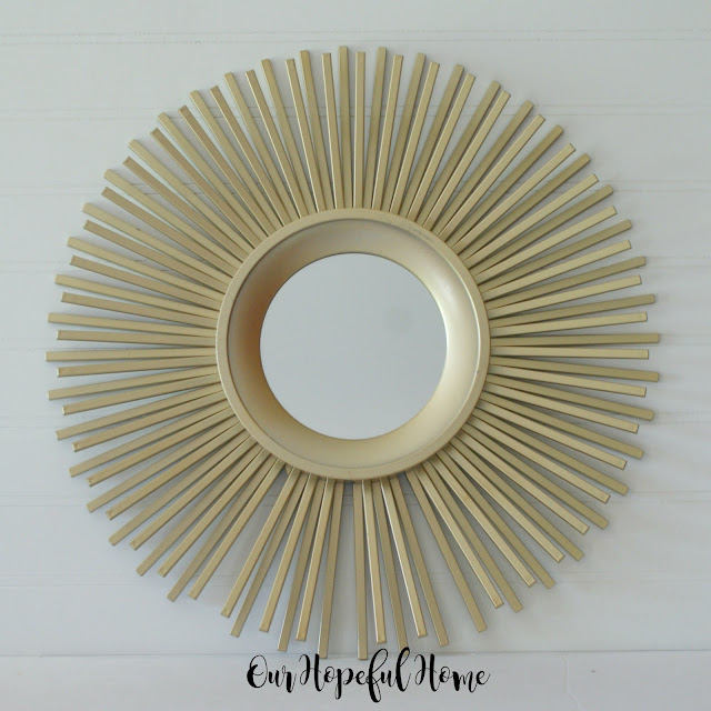 sunburst mirror gold wall accent