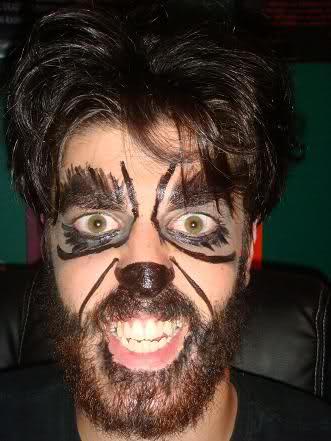 maquillaje de hombre lobo