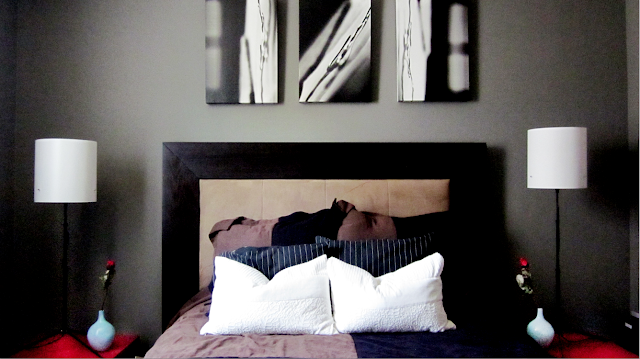 Cole Barnett: Black, White, & Neutral Bedroom And Powder