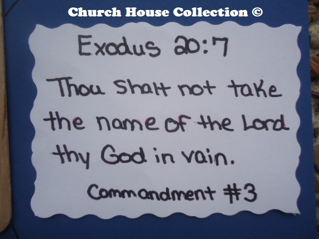 Church House Collection Blog Ten Commandments 3rd